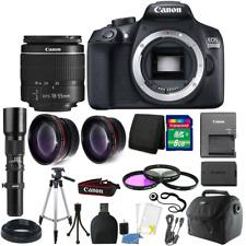Canon EOS Rebel 1300D/T6 18MP DSLR Camera + 18-55mm Lens + Accessory Kit
