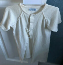 Vintage 1950's Honeysuckle Sears Brand Newborn Baby Shirt Aged Yellow Color