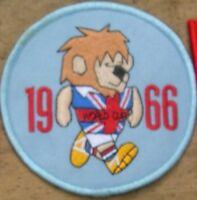World Cup Willie 1966 England Round Patch (Light  Blue)