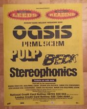 Leeds Reading festival Oasis  2000 press advert Full page 37 x 28 cm mini poster
