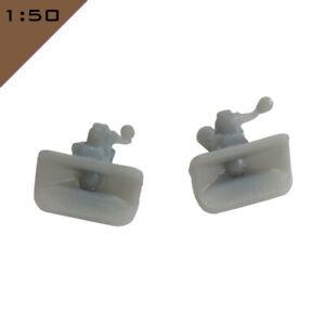 2x 3D printed Code 3 TOW HITCH, TOW COUPLING, DRAWBAR 1:50 Model Miniature