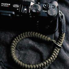 Nylon Rope Genuine Leather Camera Wrist Strap Hand Strap For Canon Fuji Sony