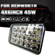 "4x6"" LED CREE HID LIGHT BULB H4 CRYSTAL CLEAR SEALED BEAM HEADLAMP 45W HEADLIGHT"