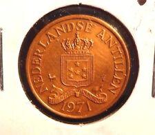 CIRCULATED 1971 2 1/2 CENT NEDERLANDSE  ANTILLEN COIN (72216)