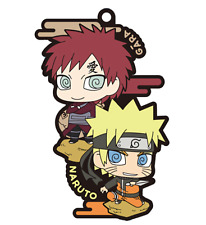 NARUTO Shippuden Naruto & Gaara Candy Toy Rubber Mascot Key Chain Anime Art