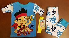 Jake and the Neverland Pirates Toddler Boy Blue Pajamas 24 Months New