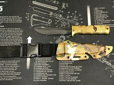 Combat Rubber Airsoft Training Knife Martial Arts SOG Seal Pup knife Multicam