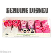 Authentic Disney Minnie Mouse Socks Gift Set for Baby Girl Baby shower Gift Box
