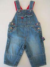 OshKosh Boys Girls 6m Denim Overalls Infant Child Blue Jeans Scarecrow Jumper