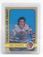 1972-73 Tony Esposito Chicago Black Hawks #137 OPC O-Pee-Chee Hockey Card I665