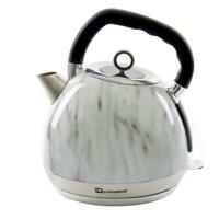 1.8L Sfera Cordless Electric Kettle Fast Boil Kitchen Marble Effect 2200W White