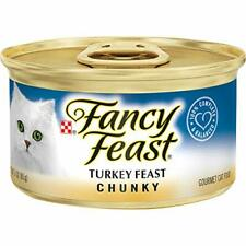New listing Purina Fancy Feast Pate Wet Cat Food Chunky Turkey Feast - 24 3 oz. Cans