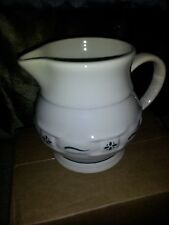 Reduced Longaberger Small Juice Pitcher, Woven Traditions Heritage Green Pottery