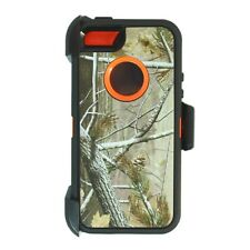 For iPhone 5,5s,SE Defender Case cover w/clip fit otterbox & Screen Orange Tree