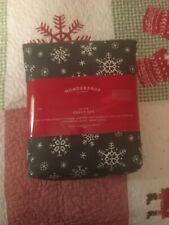 Brand New Wondershop Snowflake Cotton Gray King Sheet Set