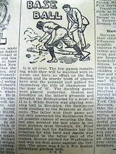 2 1897 newspapers BOSTON BEANEATERS WINthe NATIONAL LEAGUE BASEBALL CHAMPIONSHIP
