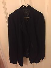 Men's Zara Asymmetrical Hem Coat In Black, Size Large (42)