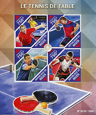 Niger 2015 MNH Table Tennis 4v M/S Sports Stamps