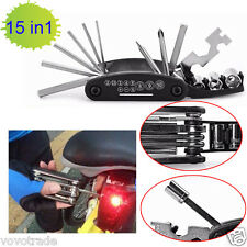 15 in 1 Multi-function Bicycle Repair Tool Set Cycling Necessary Outil pour vélo
