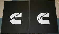 "Pair 18"" x 24"" White Cummins Logo Mud Flaps For Dodge Ram Trucks New Free Ship"