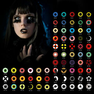 Halloween Unique Cosmetic Lens 1 Day Lenses Makeup Cosplay Many Styles