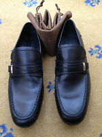 New Gucci Men's Black Leather Loafers Shoes Drivers Boating UK 5.5 6 US 6.5 7