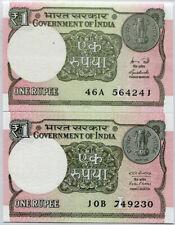 INDIA SET 2 PCS 1 RUPEES 2015 2016 P 108 UNC
