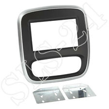 Renault Trafic ab2014 Doppel 2-DIN KFZ Radio Blende Radioblende silber/schwarz