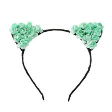 Flower Orecchiette Covely Cat Ears Headband Cosplay Party Costume Hairband