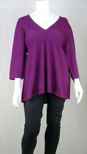 Sara Fashion Purple Sweater 2X by Reluv Clothing