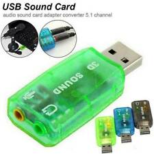 5.1 Channel USB External Audio Sound Card Mic Record Speaker Headphone Adapter