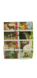 Dhufar (State of Oman) sheet of 8 Animal Stamps, Cats, CTO Trucial State bogus