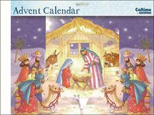Nativity fold 3D Advent Calendar 538 x 245 mm with envelope Caltime