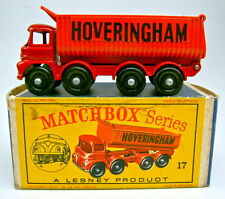 Matchbox RW 17D Hoveringham Tipper frühe Version schwarze Bpl. top in Box