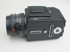 Hasselblad 501CM outfit 80mm f:2.8 CFE Planar lens, A12 6x6 late style back MINT