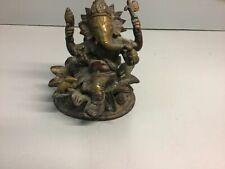 Old Ganesh (Ganesha) Hindu Elephant God of Success Bronze/Brass VINTAGE ANTIQUE
