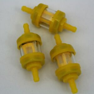 """1/4"""" 6-7mm Fit For Honda Pit Dirt Bike Motorcycle Round Plastic Gas Fuel Filter"""