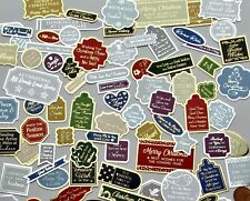 Hunkydory 40 Foiled Christmas Sentiments Card Toppers