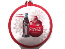 "Coca-Cola Santa Thermometer Bottle Christmas Ornament ""Season's Greetings"""
