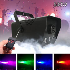 2x RGB LED Wireless Smoke Fog Machine Stage Mist Effect Remote 500w Disco Party