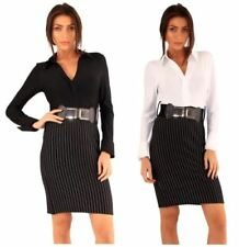 Stripes Shirt Dresses for Women with Belt