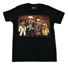 Get Down Art Mens Movie Mobster LineUp Godfather Scarface Shirt New S-2Xl