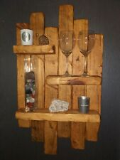 Rustic Ornamental country barn style handcrafted artistic modern shelf