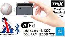 TriX M1T Mini Desktop Computer PC Celeron J4125 8GB RAM 128GB SSD Win10 HDMI 4K