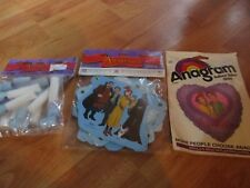 3pc Lot 1997 Anastasia Party Goods Heart Balloon Napkin  NOS