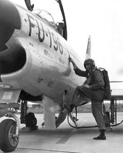 Korean War Era  Photo F-86D Sabre Jet Fighter 1950's Korea 1960's USAF   / 5352