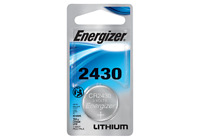 Energizer CR 2430 Lithium Coin 3V Battery