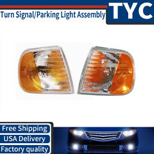 TYC 2X Front Left Right Turn Signal / Parking Light Assembly For 1997 Ford F-150
