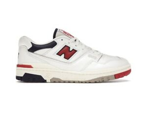 NEW BALANCE 550 AIME LEON DORE WHITE NAVY RED SNEAKERS SIZE: UK9 / US9.5