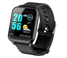 ECG Fitness Tracker Activity Heart Rate Blood Pressure Smart Watch IOS Android